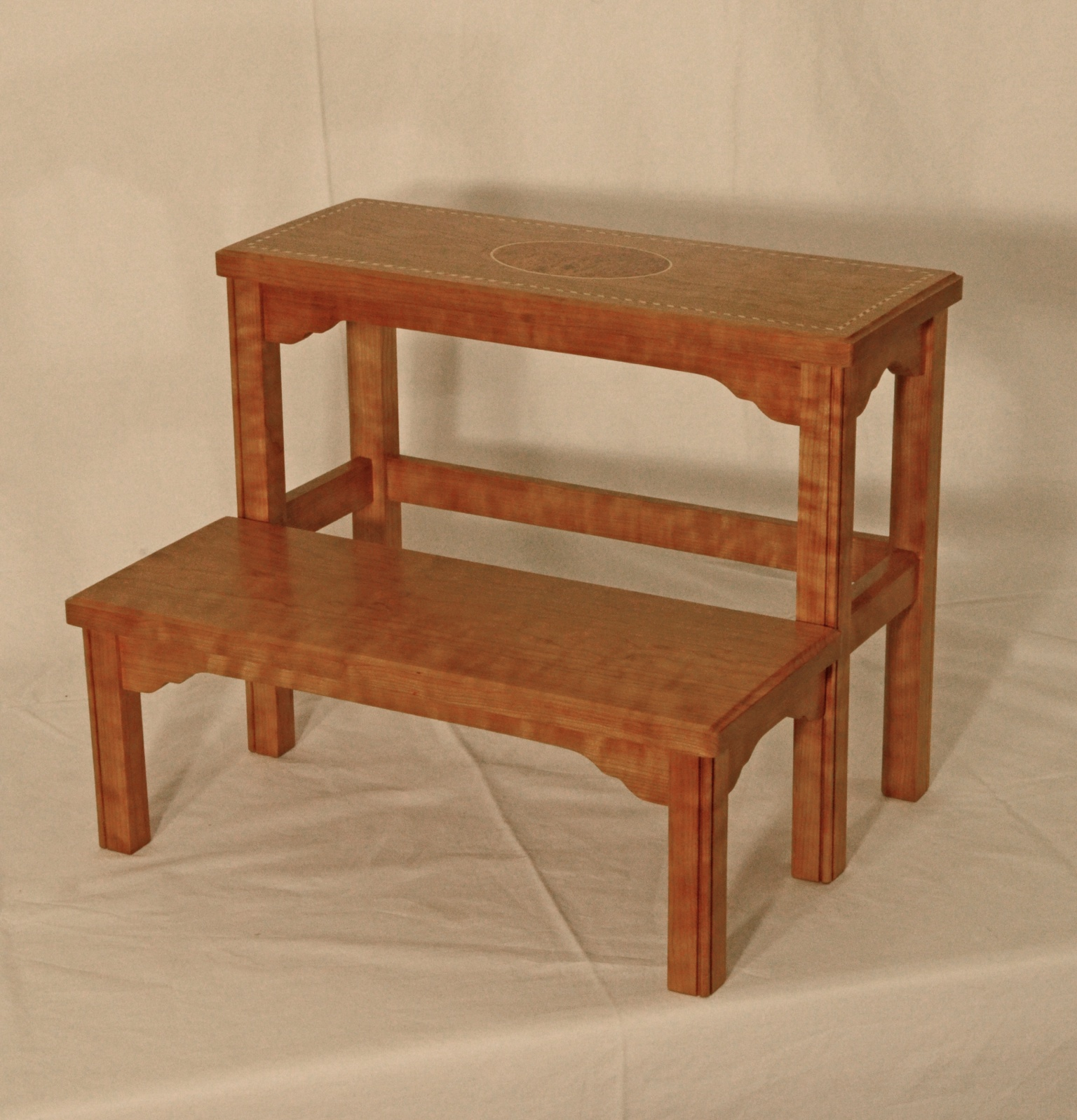 Cherry Federal Step Stool Silverpearl Woodworking