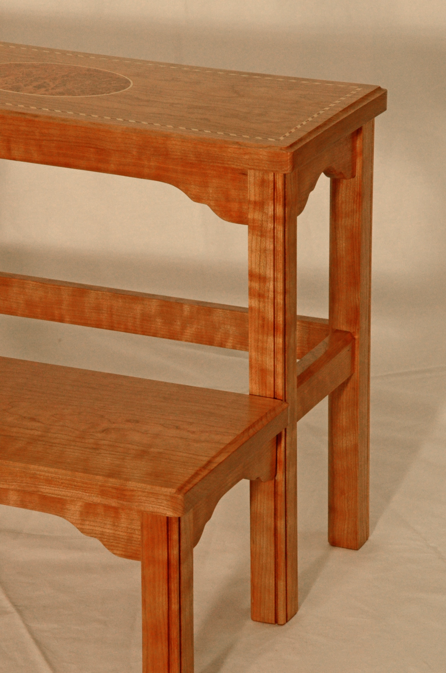Cherry federal step stool silverpearl woodworking for Cherry wood step stool bedroom