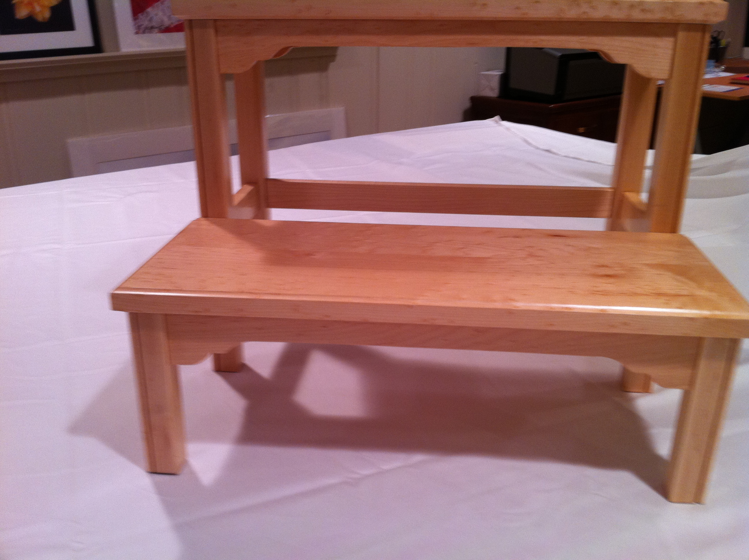 Maple Federal Step Stool Silverpearl Woodworking