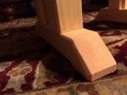 Chamfered foot